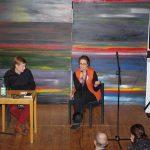 Viktoria Freifrau von dem Bussche moderierte Das Gespräch mit Till Reimers.